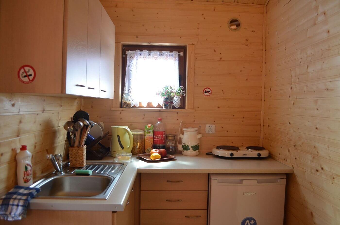 Kuchnia w domku nad morzem
